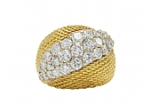Hammerman Brothers Diamond Ring in Platinum and 18K Gold