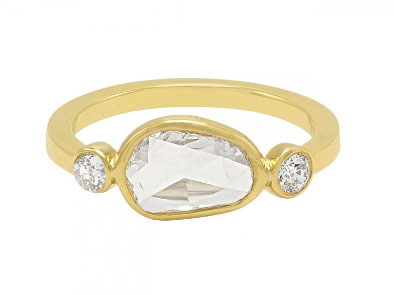 Video of Beladora 'Bespoke' Rose-cut Diamond Ring in 18K Gold