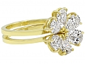 Beladora 'Bespoke' Pear-shape Diamond Flower Separable Ring in 18K Gold