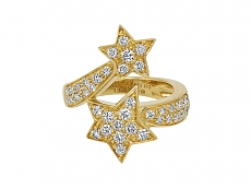Chanel 'Comète' Star Diamond Ring in 18K Gold