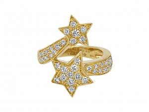 Chanel 'Comète' Star Diamond Ring in 18K Gold