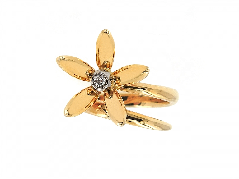 Video of Asprey Diamond 'Daisy' Wrap Ring in 18K Gold