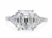 3.08 carat F/VVS1 Emerald-cut Diamond Ring in Platinum