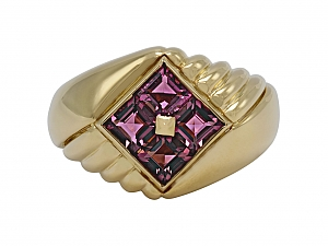 Bulgari Pink Tourmaline Ring in 18K Gold