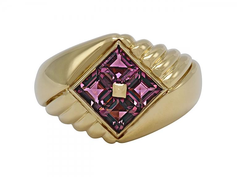Video of Bulgari Pink Tourmaline Ring in 18K Gold