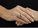 Bulgari Pink Tourmaline Ring in 18K Gold