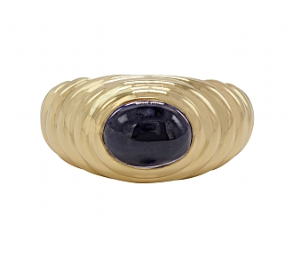 Bulgari Iolite Ring in 18K Gold