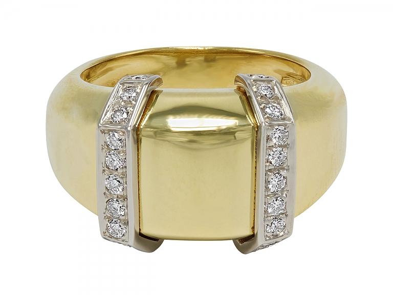Video of Faraone 18K Yellow Gold and Diamond Ring