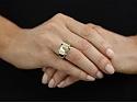Faraone 18K Yellow Gold and Diamond Ring
