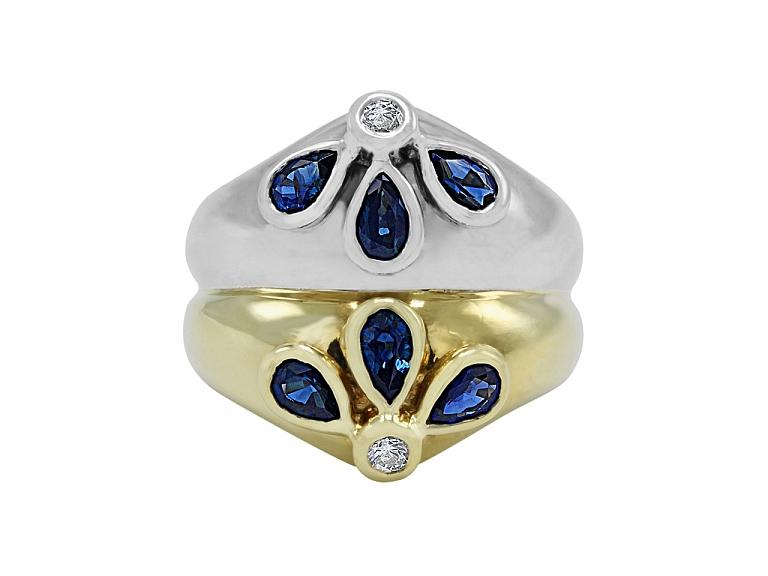 Video of Faraone Sapphire and Diamond in Bi-color 18K Gold
