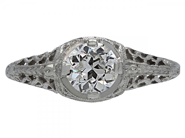 Video of Art Deco 0.62 carat I/VS-1 Diamond Solitaire Ring in Platinum