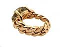 Pomellato Green Quartz 'Lola' Curb Chain Ring in 18K Rose Gold