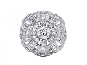 Diamond Cocktail Ring in Platinum