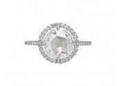 Martin Katz 2.41ct Diamond Halo Ring in Platinum