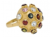 H.Stern Sputnik Multi-Gemstone Ring in 18K Gold