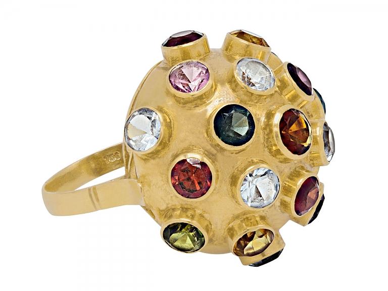 Video of H.Stern Sputnik Multi-Gemstone Ring in 18K Gold