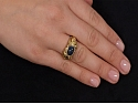 Cabochon Sapphire Ring in 18K Gold