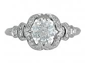 Antique Edwardian Old European-Cut Diamond, 1.04 Carat I/VS-1, Ring in Platinum