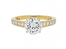 Cartier Diamond Ring, 1.94 carat G/VVS-1, in 18K Gold