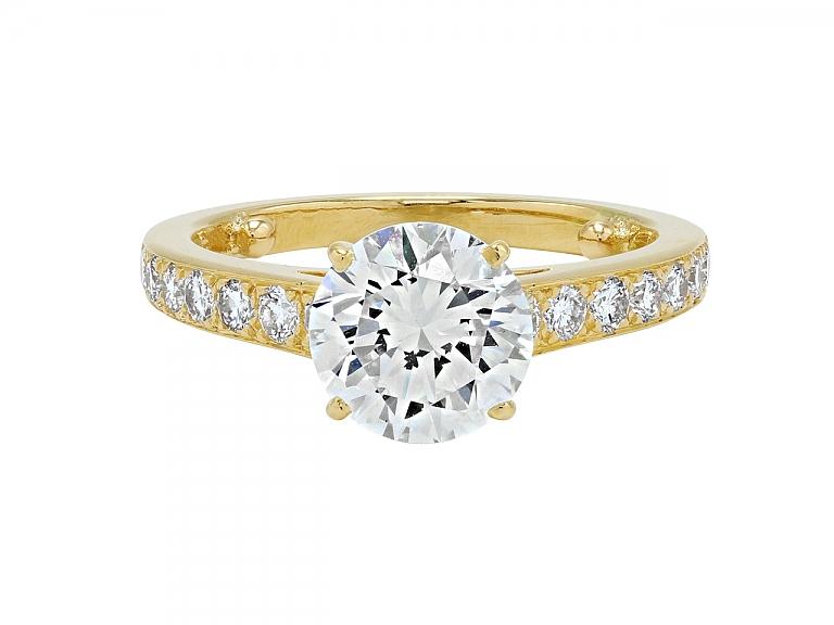 Video of Cartier Diamond Ring, 1.94 carat G/VVS-1, in 18K Gold