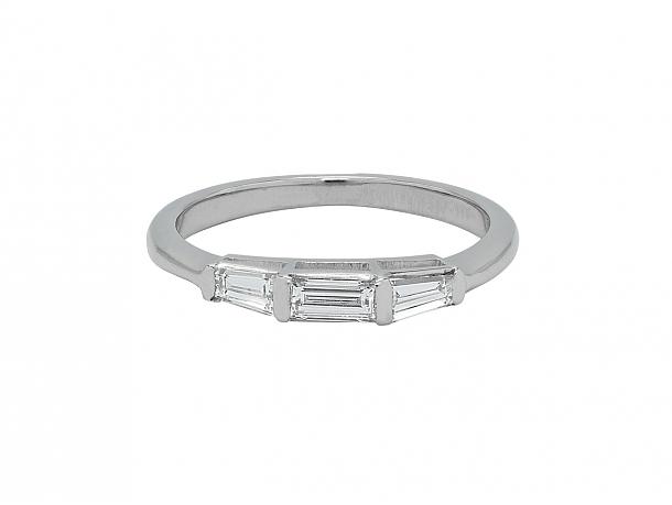 Baguette Diamond Ring in Platinum