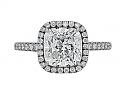 Cushion-cut Diamond Ring, 3.07 carat G/SI-2, in Platinum