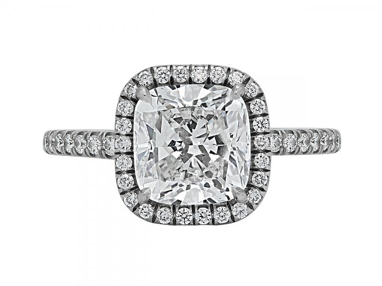 Video of Cushion-cut Diamond Ring, 3.07 carat G/SI-2, in Platinum