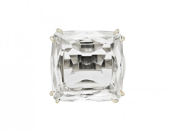 H.Stern 'Cobblestone' Rock Crystal Ring in 18K Gold