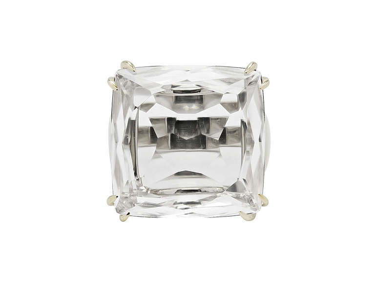 Video of H.Stern 'Cobblestone' Rock Crystal Ring in 18K Gold
