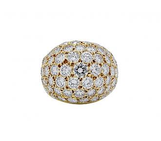 Van Cleef & Arpels Diamond Boule Ring in 18K