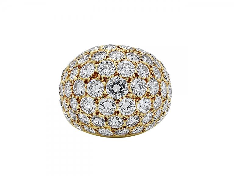Video of Van Cleef & Arpels Diamond Boule Ring in 18K