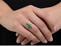 Art Deco Jade and Diamond Ring in Platinum