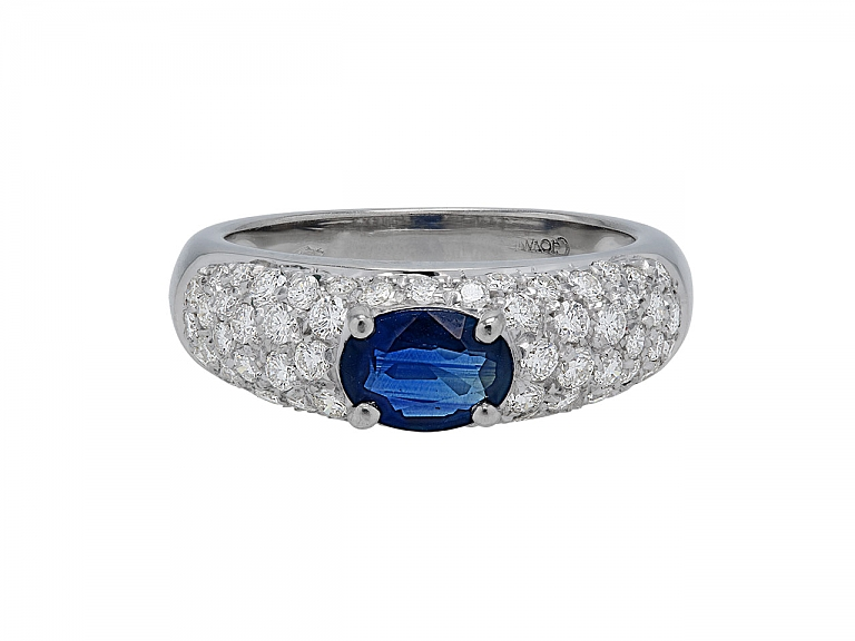 Video of Giovane Sapphire and Diamond Ring in 18K White Gold