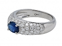 Giovane Sapphire and Diamond Ring in 18K White Gold