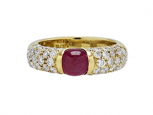 Giovane Ruby and Diamond Ring in 18K Gold