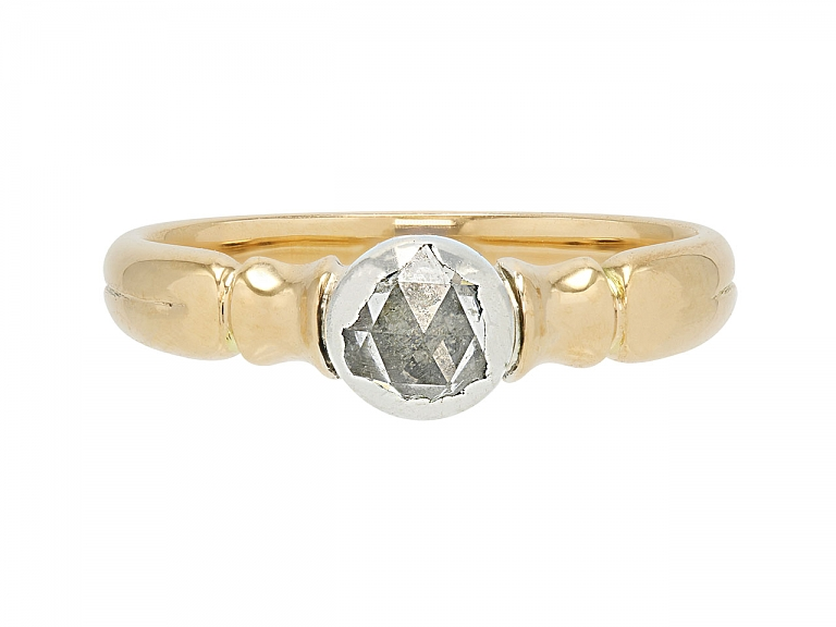 Video of Antique Diamond Ring in 14K Gold and Silver