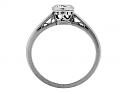 Art Deco Diamond Ring in 14k White Gold
