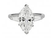 Marquise Diamond Ring, 3.06 Carats I/VVS-2, in Platinum