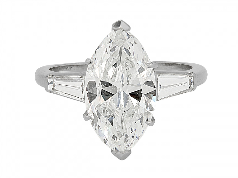 Video of Marquise Diamond Ring, 3.06 Carats I/VVS-2, in Platinum