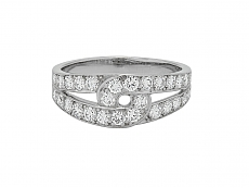 Cartier Diamond Ring in 18K White Gold