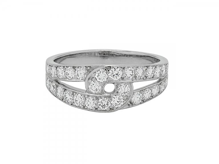 Video of Cartier Diamond Ring in 18K White Gold