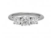 Tiffany & Co. Three Stone Diamond Ring, 1.11 carats total, in Platinum