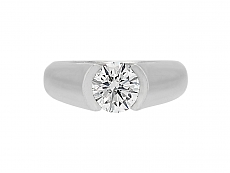 Cartier Solitaire 'C De Cartier' Diamond Ring, 1.50 carat H/VS1, in Platinum