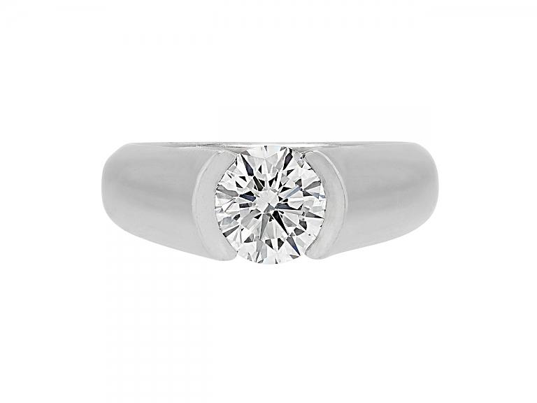 Video of Cartier Solitaire 'C De Cartier' Diamond Ring, 1.50 carat H/VS1, in Platinum