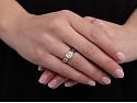 Cartier Solitaire 'C De Cartier' Diamond Ring, 1.50 carat H/VS1, in Platinum