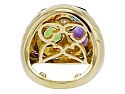 Bulgari Multi-Gemstone and Diamond Heart Cocktail Ring in 18K Gold