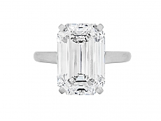Emerald-cut Diamond Ring, 10.07 carat, by Cartier