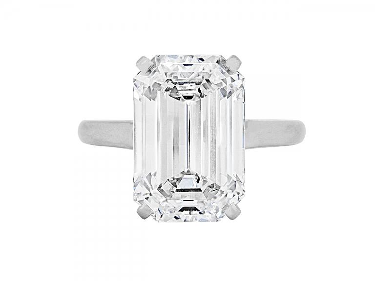 Video of Emerald-cut Diamond Ring, 10.07 carat, by Cartier