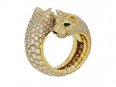 Cartier 'Panthère de Cartier' Diamond Ring in 18K Gold