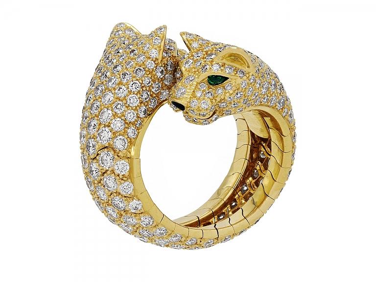 Video of Cartier 'Panthère de Cartier' Diamond Ring in 18K Gold